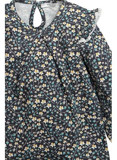 Zeyland Omuz Fırfırlı Desenli Bluz (12ay-4yaş) Omuz Fırfırlı Desenli Bluz (12ay-4yaş) Yeşil